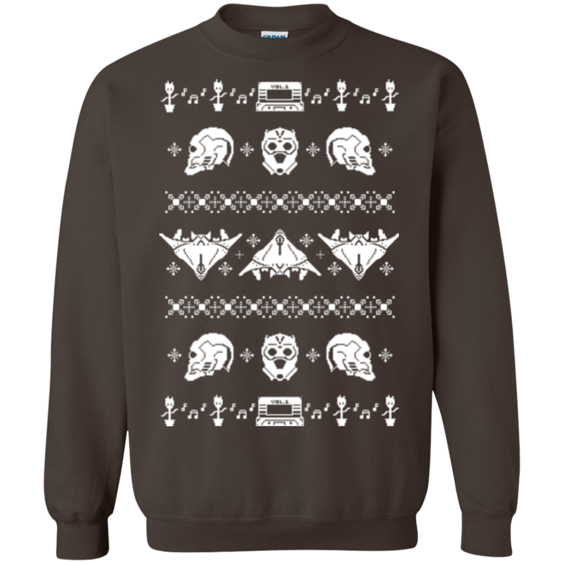 Sweatshirts Dark Chocolate / Small Merry Christmas A-Holes 2 Crewneck Sweatshirt
