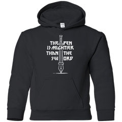 Sweatshirts Black / YS Mighty Pen Youth Hoodie