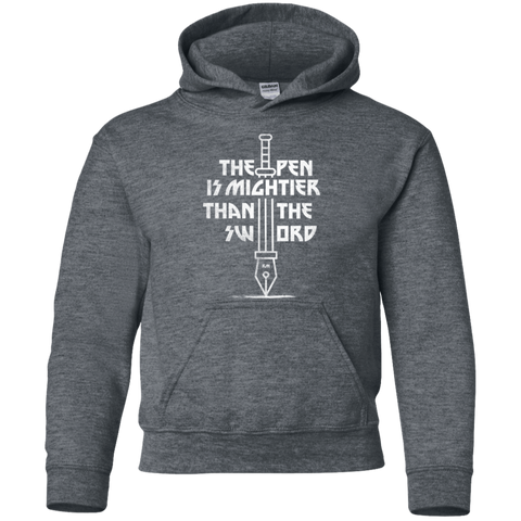Sweatshirts Dark Heather / YS Mighty Pen Youth Hoodie