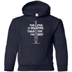 Sweatshirts Navy / YS Mighty Pen Youth Hoodie