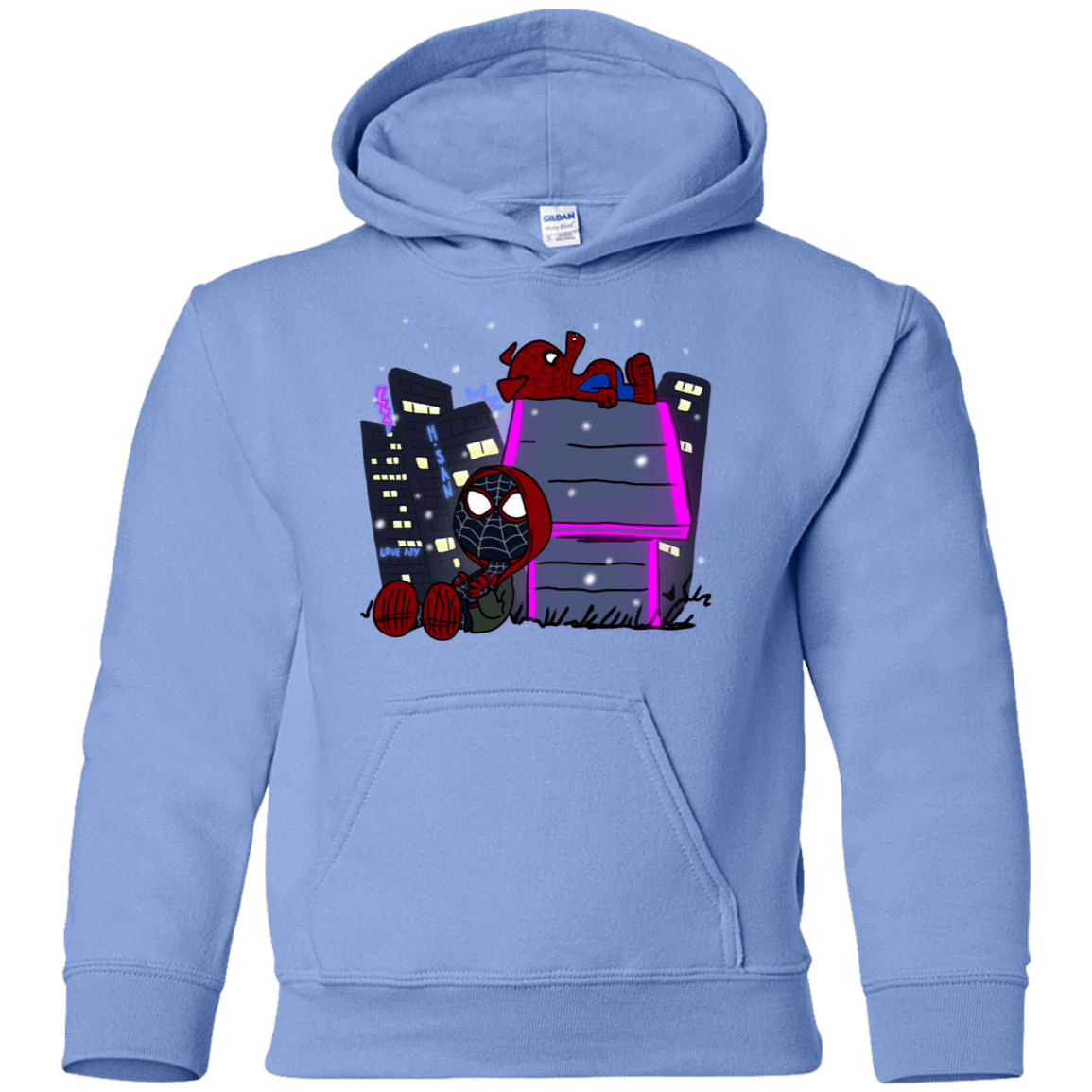 Sweatshirts Carolina Blue / YS Miles and Porker Youth Hoodie