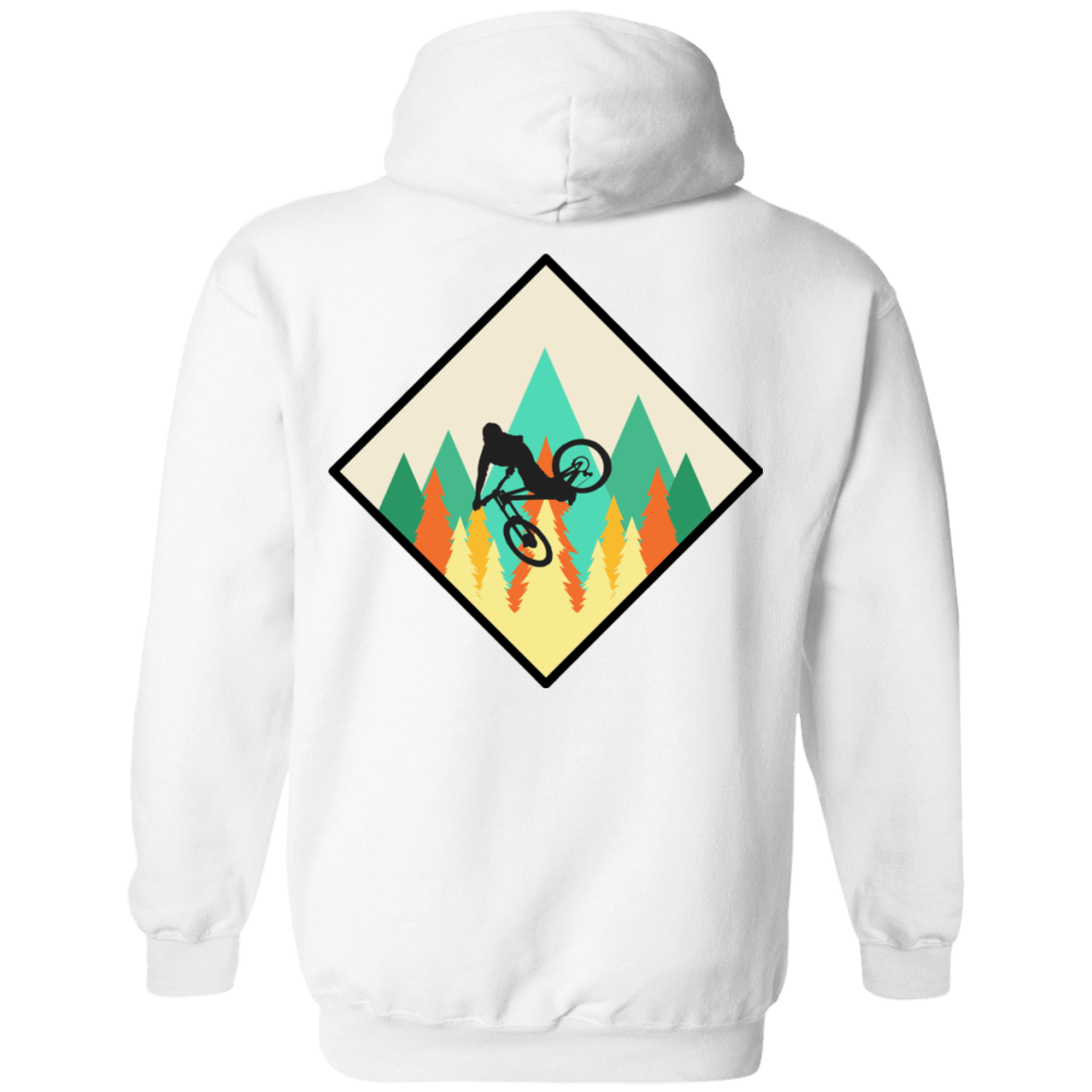 Mountain Biking is Life Back Print Pullover Hoodie