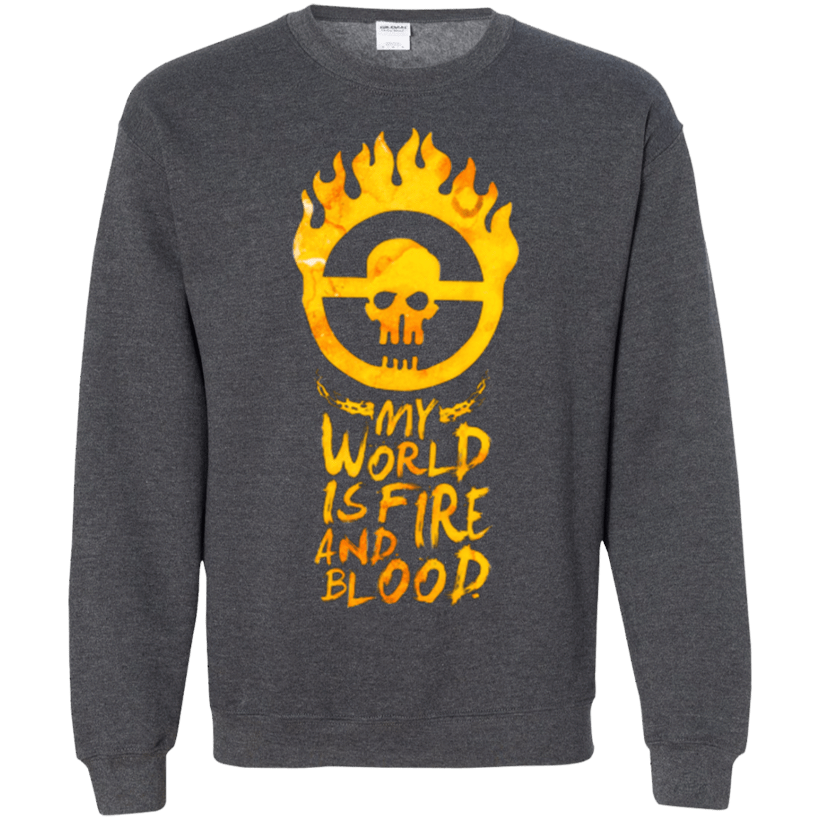 Sweatshirts Dark Heather / Small My World Is Fire Crewneck Sweatshirt