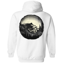 Never Gonna Leave The Woods Back Print Pullover Hoodie