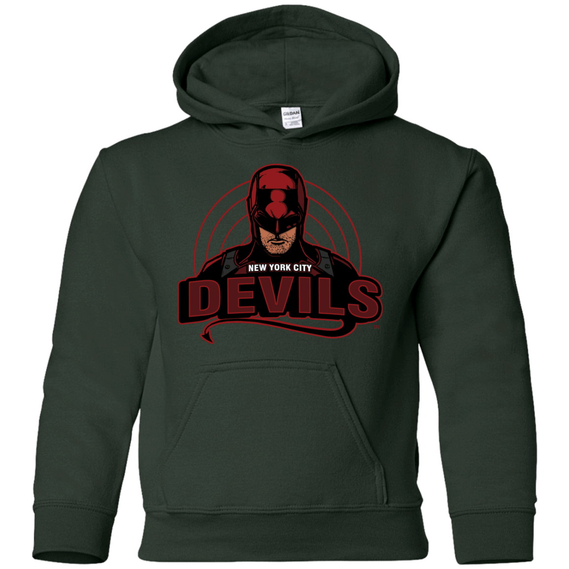 Sweatshirts Forest Green / YS NYC Devils Youth Hoodie
