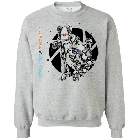 Orange and Blue Crewneck Sweatshirt
