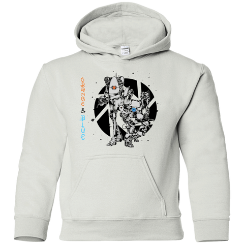 Orange and Blue Youth Hoodie