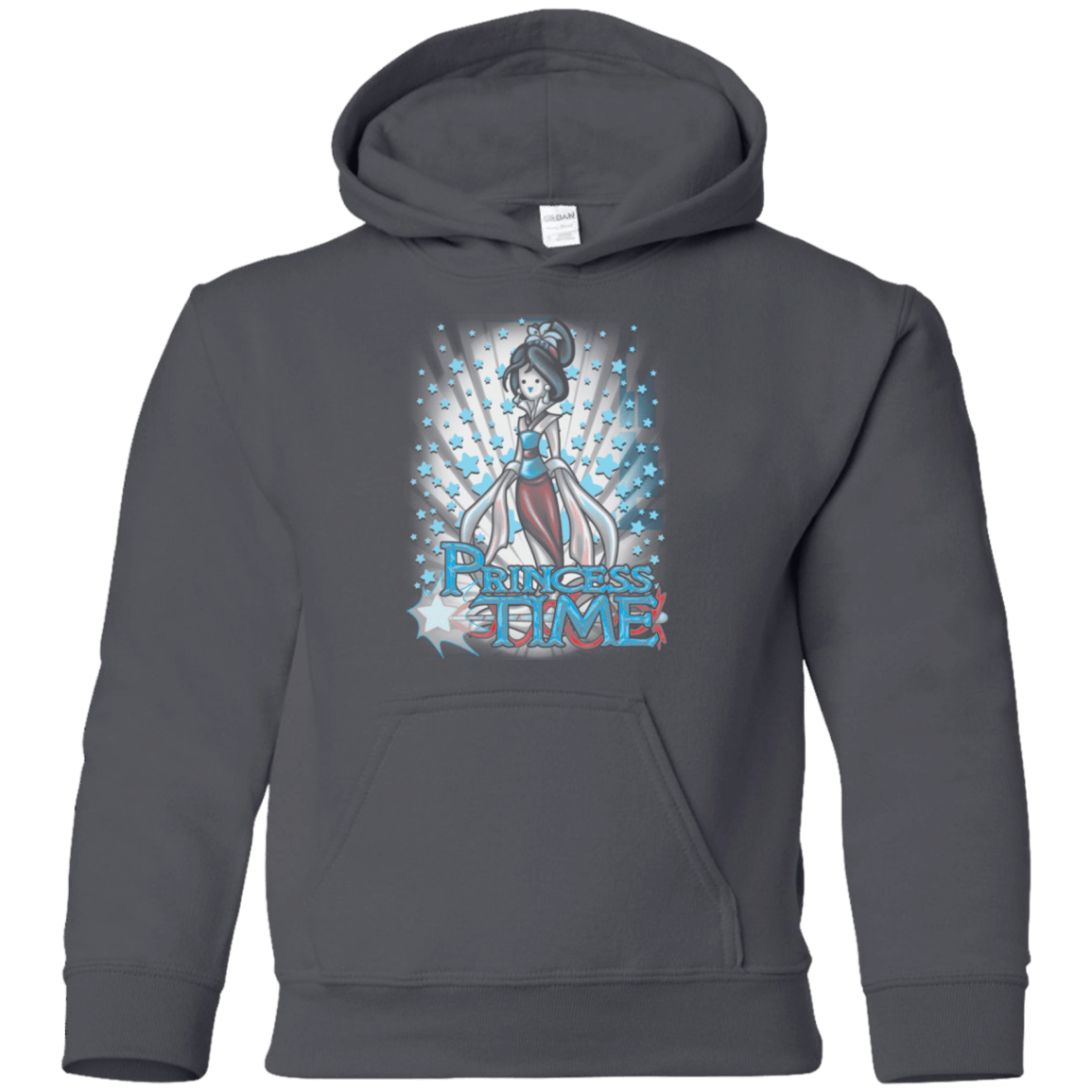 Sweatshirts Charcoal / YS Princess Time Mulan Youth Hoodie