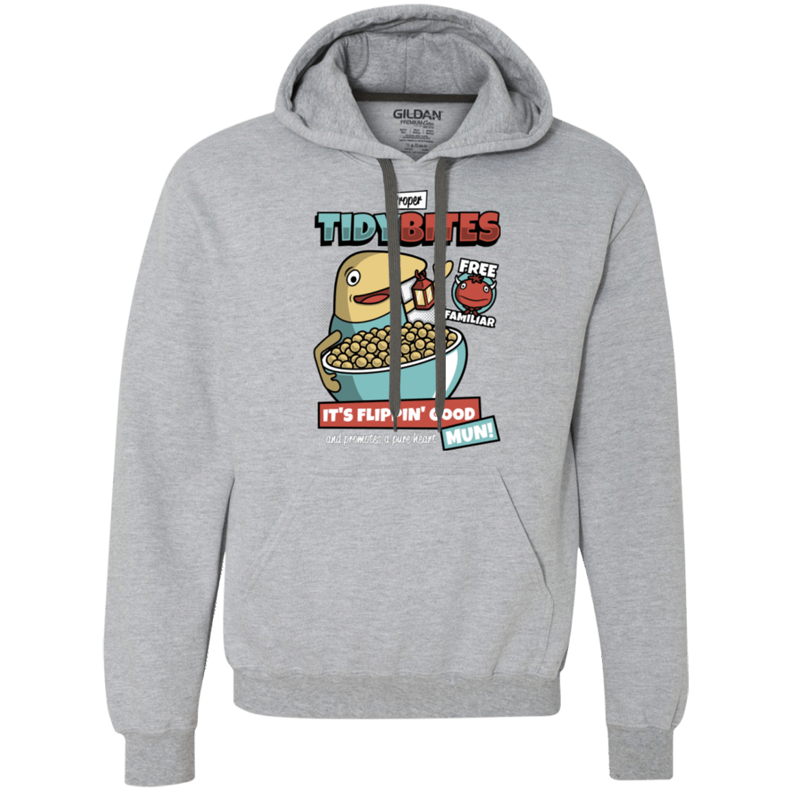 Sweatshirts Sport Grey / Small PROPER TIDY BITES Premium Fleece Hoodie