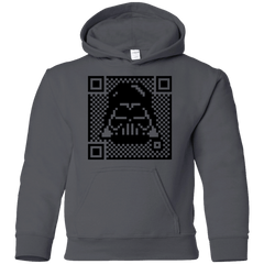 Sweatshirts Charcoal / YS QR vader Youth Hoodie