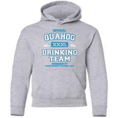 Sweatshirts Sport Grey / YS Quahog Drinking Team Youth Hoodie