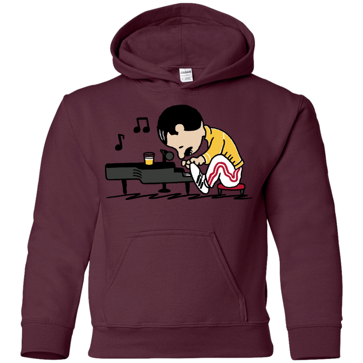 Sweatshirts Maroon / YS Queenuts Youth Hoodie