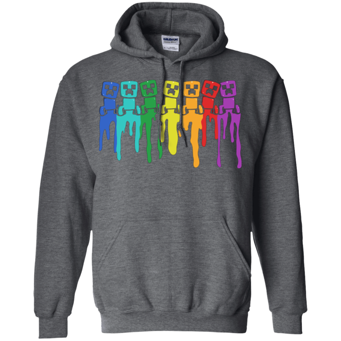 Sweatshirts Dark Heather / Small Rainbow Creeps Pullover Hoodie