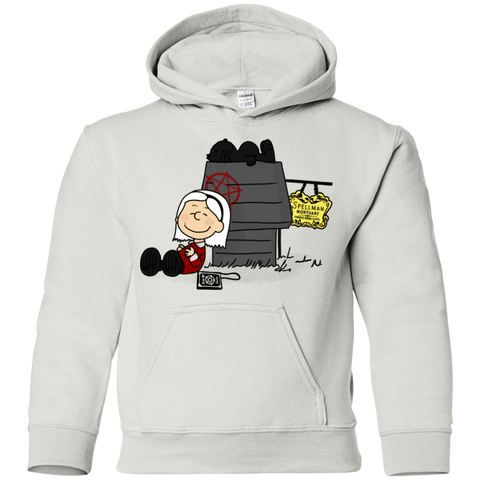 Sweatshirts White / YS Sabrina Brown Youth Hoodie