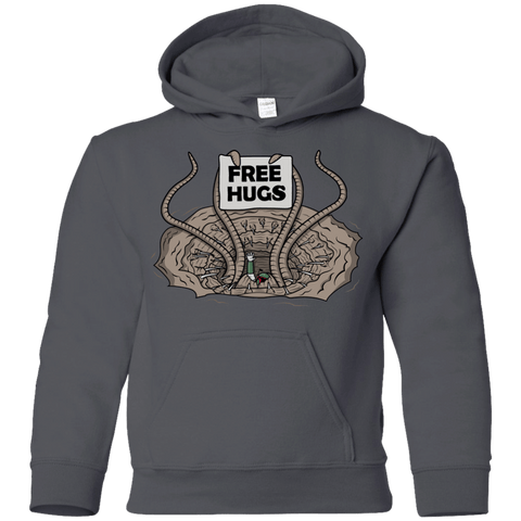 Sweatshirts Charcoal / YS Sarlacc Free Hugs Youth Hoodie