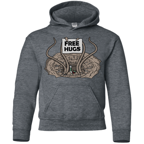 Sweatshirts Dark Heather / YS Sarlacc Free Hugs Youth Hoodie