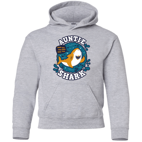 Shark Family Trazo - Auntie Youth Hoodie