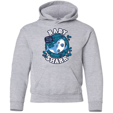 Shark Family trazo - Baby Boy chupete Youth Hoodie