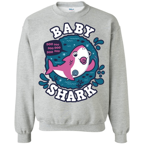 Shark Family trazo - Baby Girl chupete Crewneck Sweatshirt