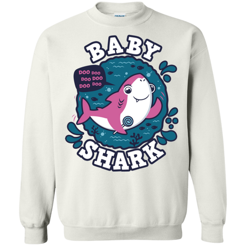 Shark Family trazo - Baby Girl Crewneck Sweatshirt