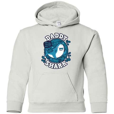 Shark Family trazo - Daddy Youth Hoodie