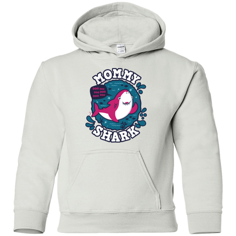 Shark Family trazo - Mommy Youth Hoodie