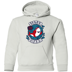 Shark Family trazo - Sister Youth Hoodie