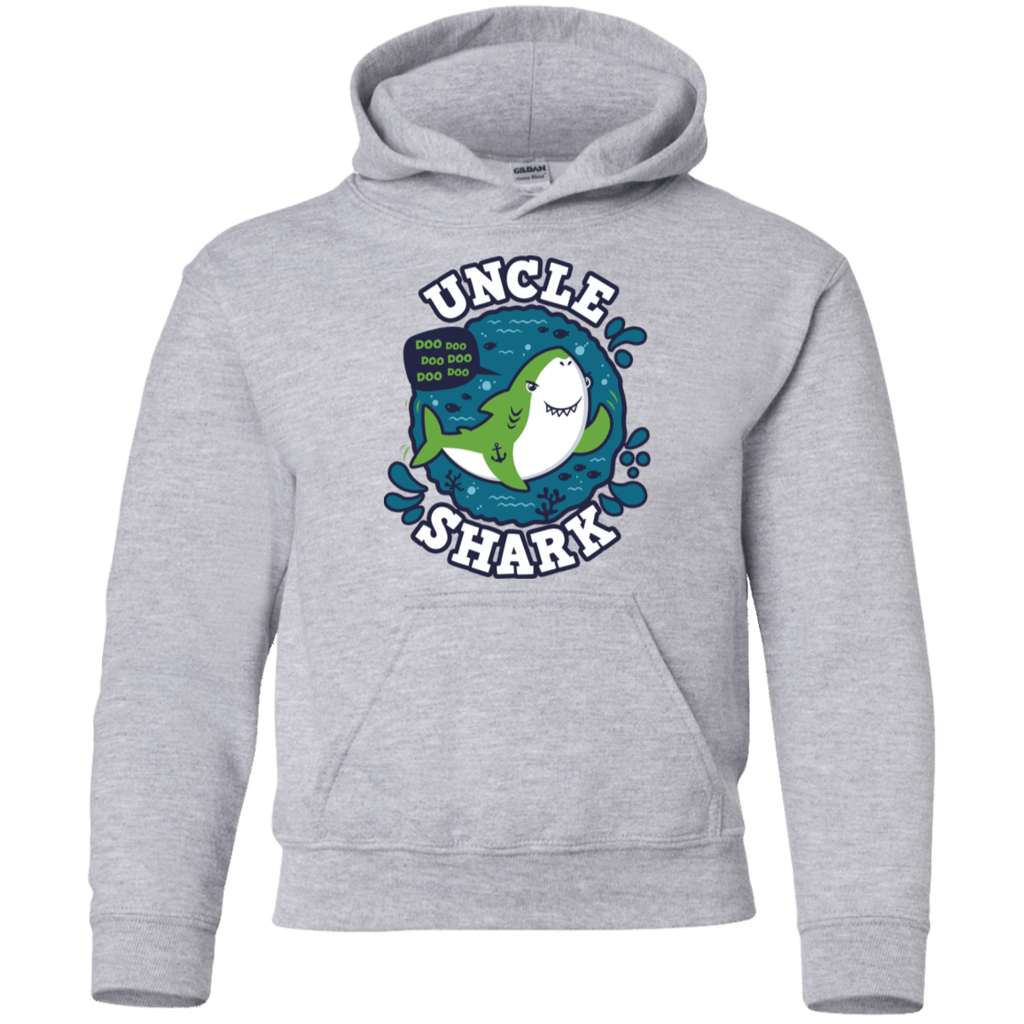 Shark Family trazo - Uncle Youth Hoodie