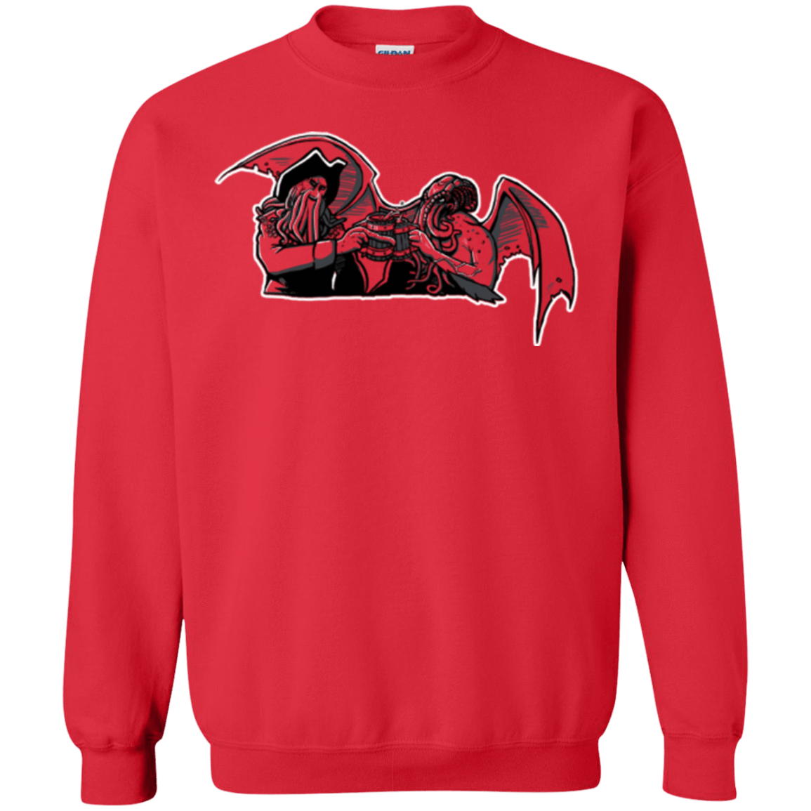 Sweatshirts Red / Small Shiver Me Tentacles Crewneck Sweatshirt