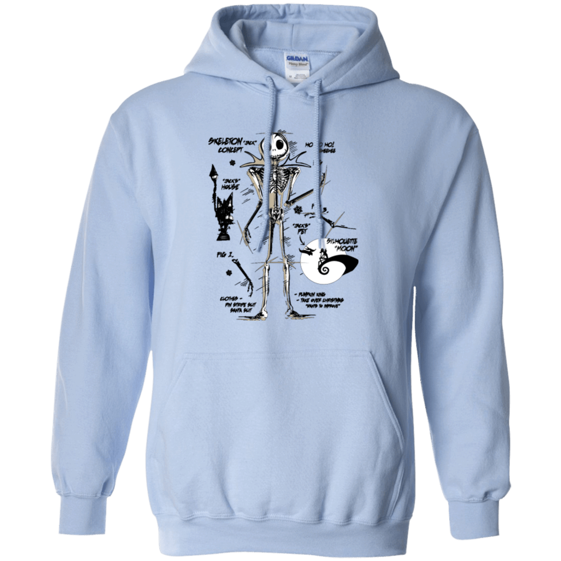 Skeleton Concept Pullover Hoodie