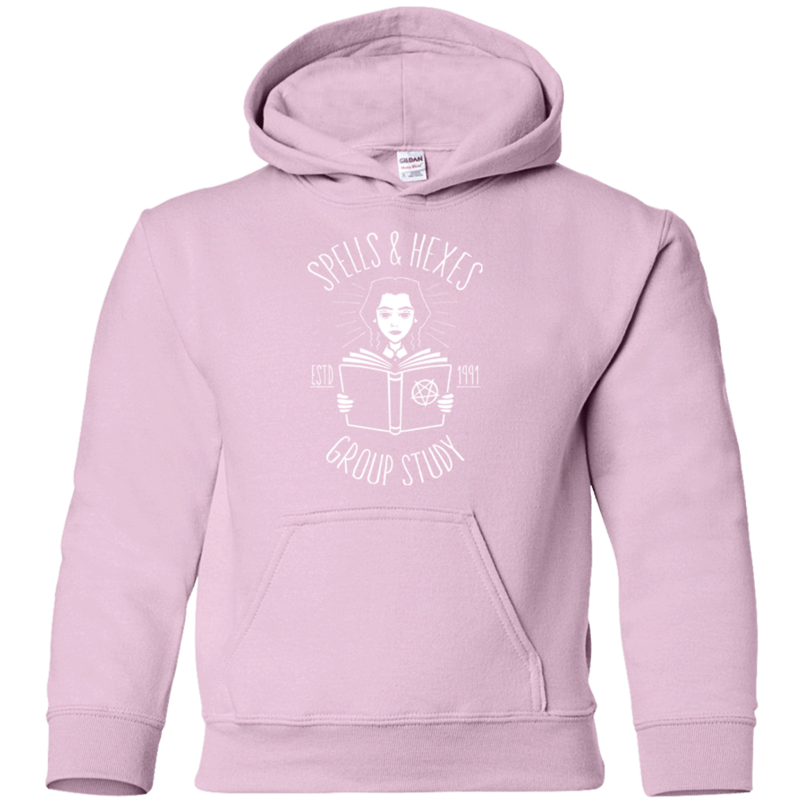Sweatshirts Light Pink / YS Spells and Hexes Group Study Youth Hoodie