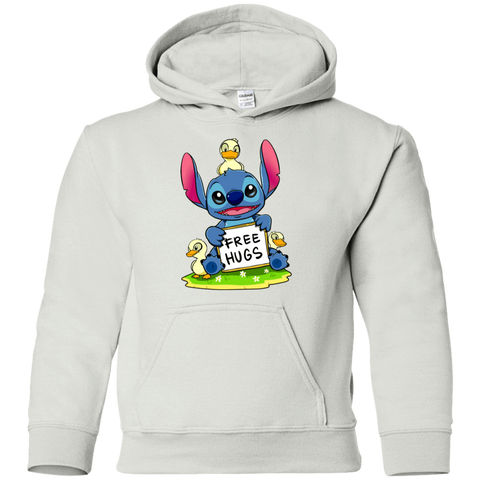 Sweatshirts White / YS Stitch Hug Youth Hoodie