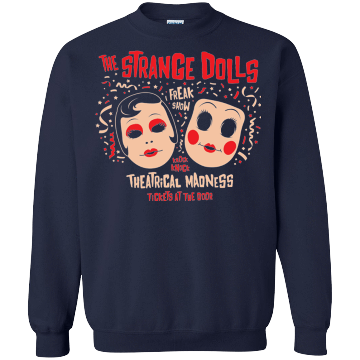 Sweatshirts Navy / Small STRANGE DOLLS Crewneck Sweatshirt