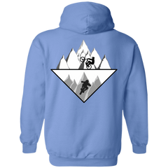 Strange Reflection Ride Back Print Pullover Hoodie
