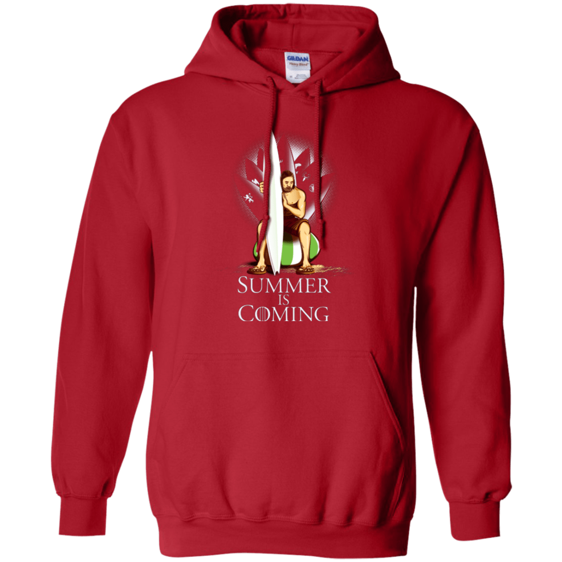 Sweatshirts Red / Small Summer is Coming Pullover Hoodie