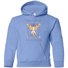 Sweatshirts Carolina Blue / YS Vitruvian Aang (1) Youth Hoodie