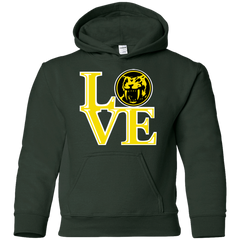 Sweatshirts Forest Green / YS Yellow Ranger LOVE Youth Hoodie