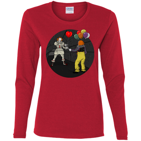T-Shirts Red / S 2 Pennywise Women's Long Sleeve T-Shirt