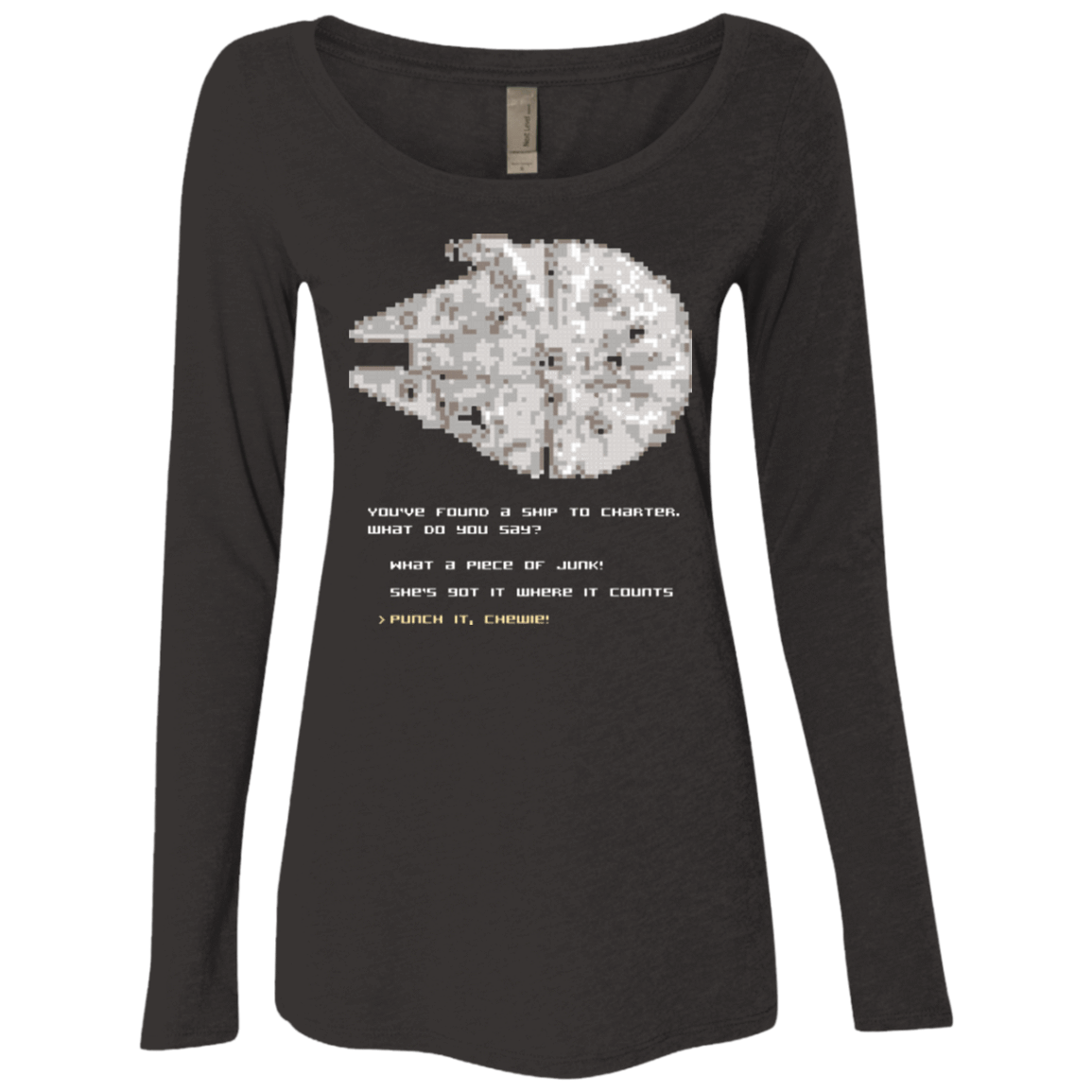 8-Bit Charter Women's Triblend Long Sleeve Shirt