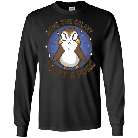 T-Shirts Black / S Adopt A Porg Men's Long Sleeve T-Shirt