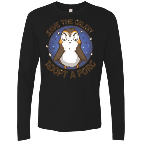 Adopt A Porg Men's Premium Long Sleeve