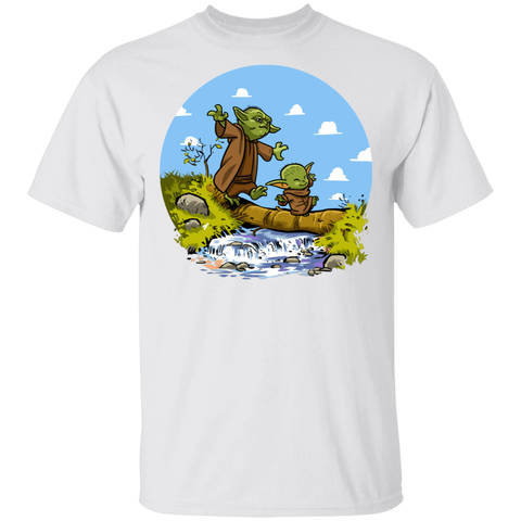 Adult Yoda Calvin Circle T-Shirt