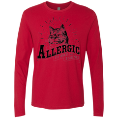 T-Shirts Red / Small Allergic to your Boyfriend Men's Premium Long Sleeve