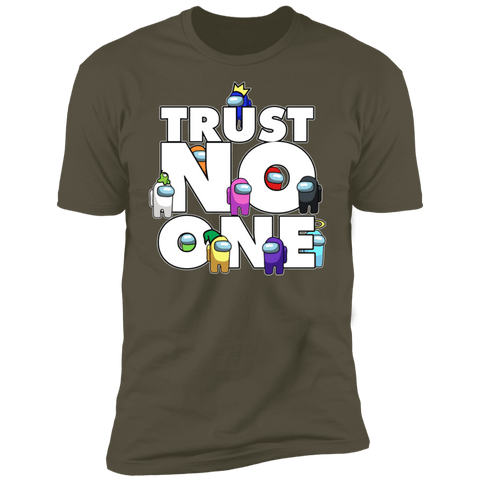 T-Shirts Military Green / S Among Us Trust No One Men's Premium T-Shirt