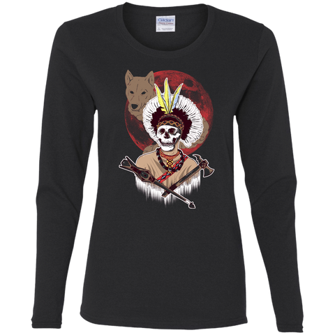 T-Shirts Black / S Apache Women's Long Sleeve T-Shirt