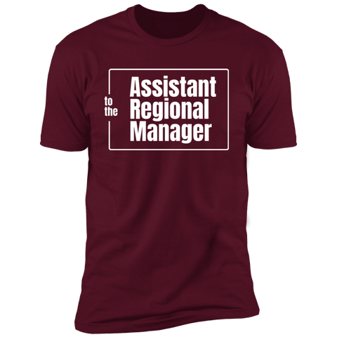 T-Shirts Maroon / S Assistant To The Regional Manager Men's Premium T-Shirt