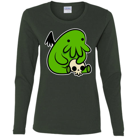 T-Shirts Forest / S Baby Cthulhu Women's Long Sleeve T-Shirt