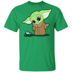 Baby Yoda and Frog Youth T-Shirt