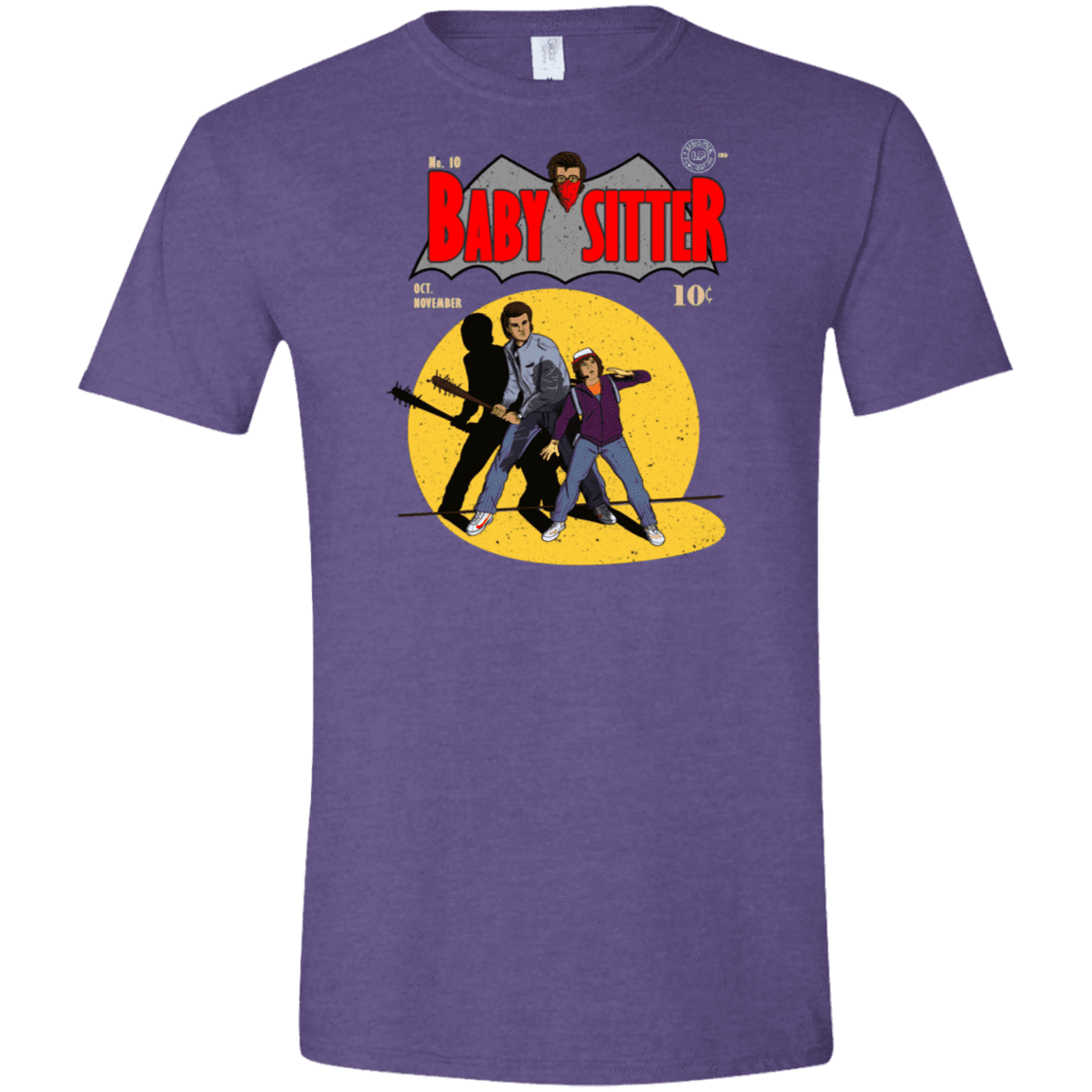 T-Shirts Heather Purple / S Babysitter Batman Men's Semi-Fitted Softstyle