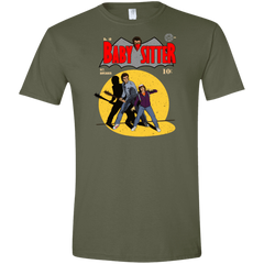 T-Shirts Military Green / S Babysitter Batman Men's Semi-Fitted Softstyle
